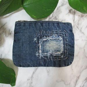 Anthropologie Cloth & Stone Denim Coin Pouch